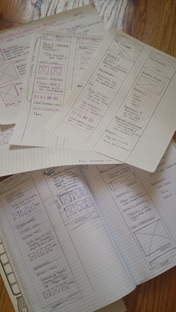 I did a little over three phases of paper wireframes trying to figure out the best way to display my content of information on a mobile device.