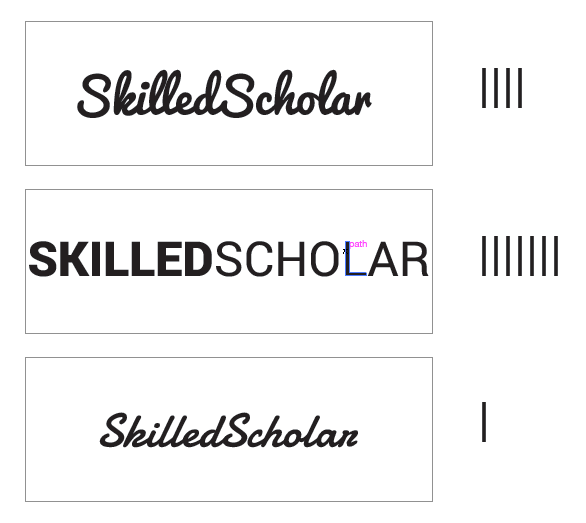 Phase One of SkilledScholar logo design